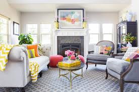 41 stylish grey and yellow living room
