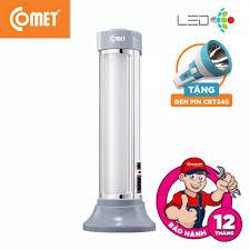 ⭐Đèn sạc led COMET CRL3201 tặng Đèn pin sạc led COMET CRT346 Thiết kế sang  trọng tinh tếnhỏ gọn siêu sáng chất liệu nhựa ABS thân thiện với môi trường  đế có