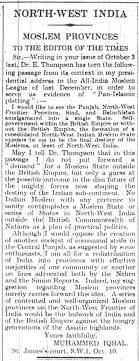 image of iqbal s letter in the times  image of iqbal s letter in the times