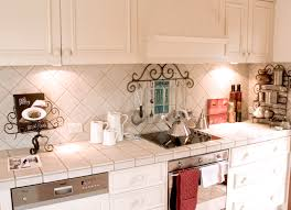 Kitchen Furniture Sydney French Provincial White Kitchen With Tiled Bench And Matching Wall