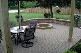 paver patio with fire pit columbus ohio