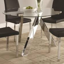 glass dining table base ideas table and estate stunning round glass dining table decor