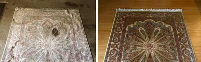 area rug color restoration examples