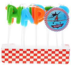 <b>Procos Свечи</b>-<b>буквы</b> для <b>торта</b> детские Самолеты Happy Birthday ...