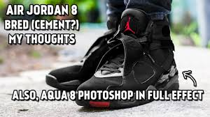 jordan 8 bred. air jordan 8 bred cement release - my thoughts