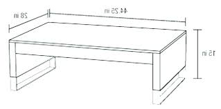height of a coffee table large size standard end dimensions common e