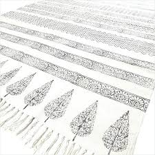 black and white flat weave rug black white flat weave woven cotton block print area accent
