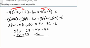 solve multi step equation with variables on both sides module 3