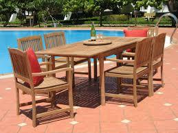pebble lane living 7 piece teak patio dining set