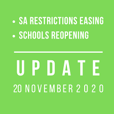 No communal food or beverage service areas may operate, this includes buffets, salad bars or or sauce dispensers Covid 19 Update 20 Nov 2020 South Australia Restrictions To Ease On 21 Nov 2020 What S On For Adelaide Families Kidswhat S On For Adelaide Families Kids