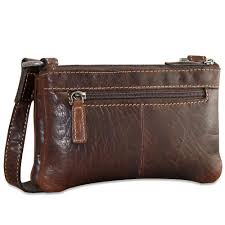 jack georges mini cross bag in vegetable brown re tanned buffalo leather