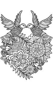 Love Birds Coloring Pages Wumingme