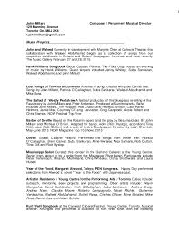 Musician Resume Samples Best Of John's Resume February 24