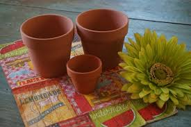 mod podge on mini terra cotta pots