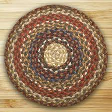 honey vanilla and ginger braided jute rug round special order sizes