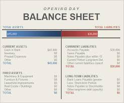 balance sheet template balance sheet template xls