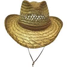 henschel palm straw braided brim w chin strap summer hat