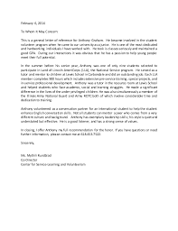 general letter of recommendation example americorps letter of reference