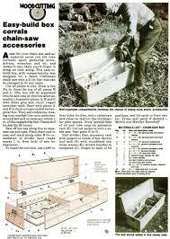 diy chainsaw storage box