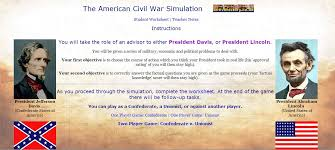 american civil war online simulation hcps history resources civil war simulation