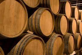 oak barrels stacked top. A Big Stack Of Wine Barrel. Oak Barrels Stacked Top