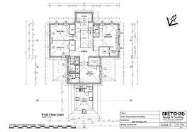 new self build 7 bed house first floor plan