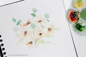 how to paint easy watercolour flowers