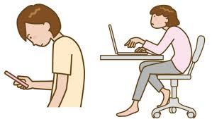 現代病(パソコン、スマホ)