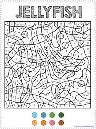 Ocean Animals Color Pages Color By Number Ocean Animals Coloring Pages 1 1 1 1