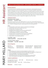 Hr Resume Sample Noxdefense Com