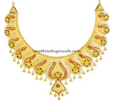 Latest Gold Sets Designs In India Latest 22k Gold Necklace From Kerala Jewellers South India
