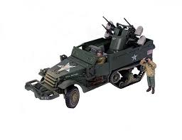 unimax toys. unimax forces of valor 81024 diamond t m16 mgmc diecast model us army, normandy, france, d-day, june 6th 1944, w/2 figures--retired toys
