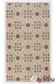 new 15 beige anatolian rug with fl patterns retro style antique washed rug 3 7