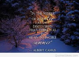 the middle of winter quote with image
