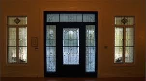 leaded and beveled glass door transom sidelights private residence san antonio