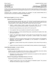 Resume For Physical Therapist Physical Therapist Resume Superjobsearch Com