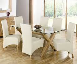 dining room contemporary image of dining room decoration using wooden x table base including white leather unique dining chair and rectangular round