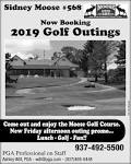 Now Booking 2019 Golf Outings, Sidney Moose Lodge 568 - Ashley ...