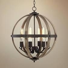 bronze orb chandelier 6 light wide dark bronze and wood orb chandelier oil rubbed bronze orb