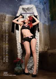 Sexy women in coffin