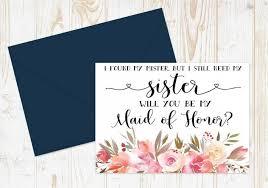 honor card bridesmaid proposal maid