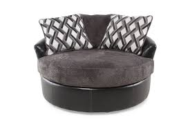 swivel accent chair. Images Oversized Microfiber 58\u0026quot; Swivel Accent Chair In Smoke Gray