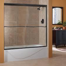 h frameless sliding tub door in