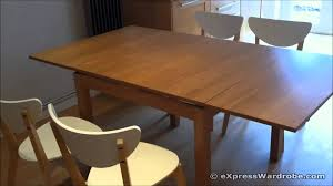 Dining Extension Table Ikea Bjursta Extendable Dining Table Design Youtube