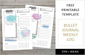 Journal Templates 15 Totally Free Bullet Journal Printable To Organize Your