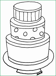 Birthday Cake Coloring Page Prettier Cake Free Colouring Pages