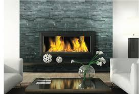 carbon slate ledgestone fireplace