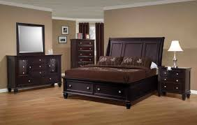 Cappuccino Finish Transitional Bedroom WStorage Bed  Options - Transitional bedroom