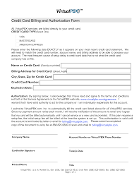 Credit Card On File Form Templates Credit Card Billing Form Templates At Allbusinesstemplates