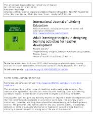 Designing Learning Activities Pdf Adult Learning Principles In Designing Learning